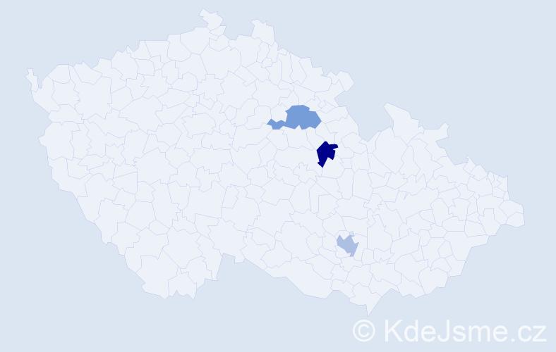 Příjmení: 'Ellová', počet výskytů 6 v celé ČR