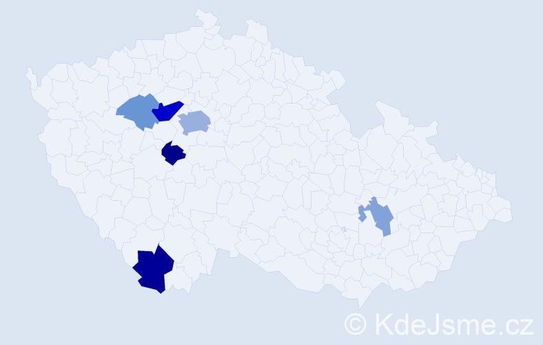 Příjmení: 'Cibíková', počet výskytů 15 v celé ČR