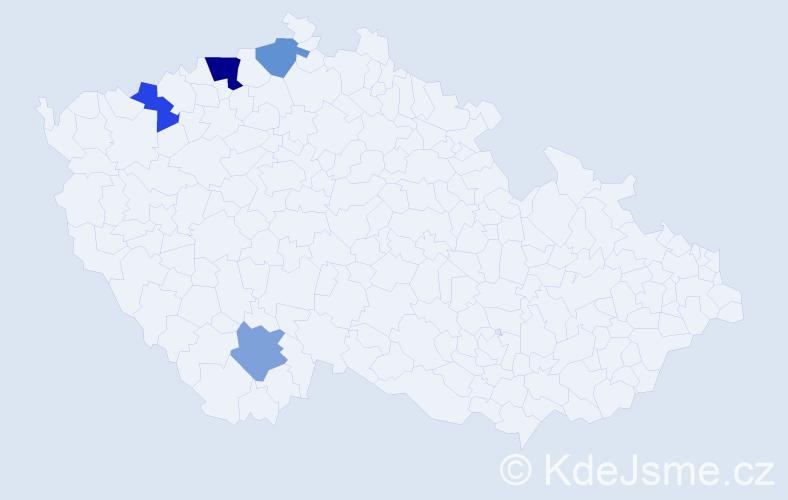 Příjmení: 'Hewerochová', počet výskytů 6 v celé ČR