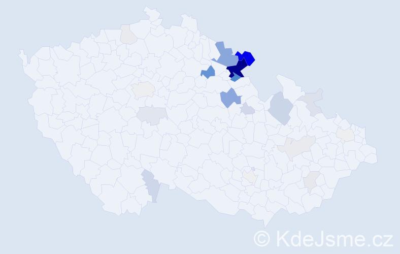 Příjmení: 'Lanta', počet výskytů 78 v celé ČR