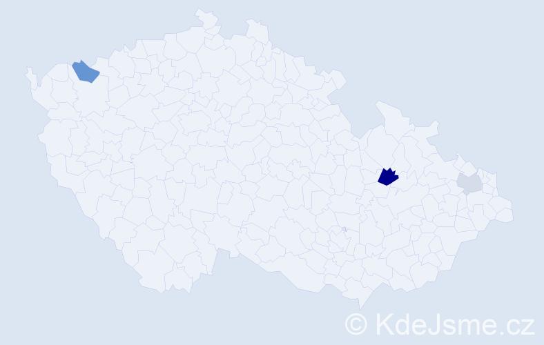 Příjmení: 'Einaiglová', počet výskytů 4 v celé ČR