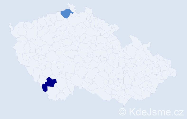 Příjmení: 'Adée', počet výskytů 4 v celé ČR