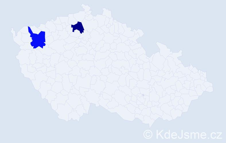 Příjmení: 'Ficík', počet výskytů 4 v celé ČR