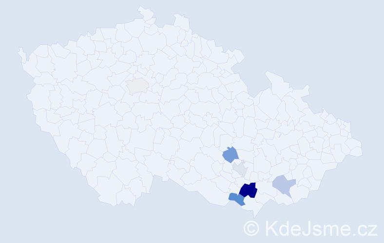 Příjmení: 'Galousková', počet výskytů 9 v celé ČR