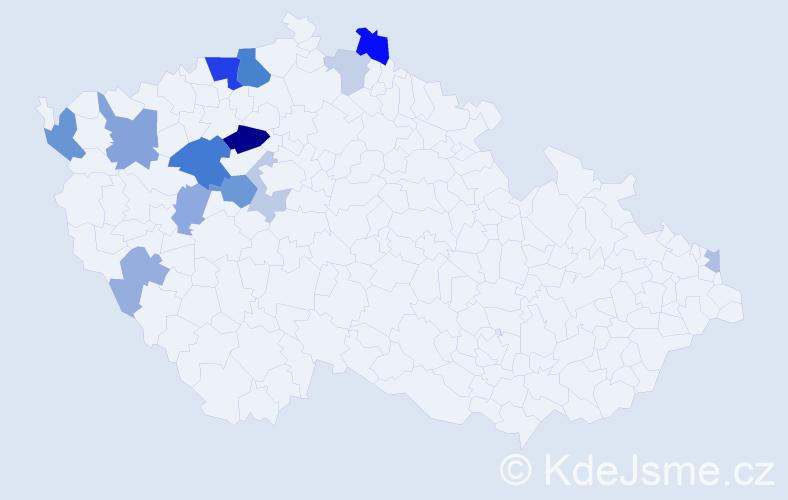 Příjmení: 'Barsa', počet výskytů 31 v celé ČR