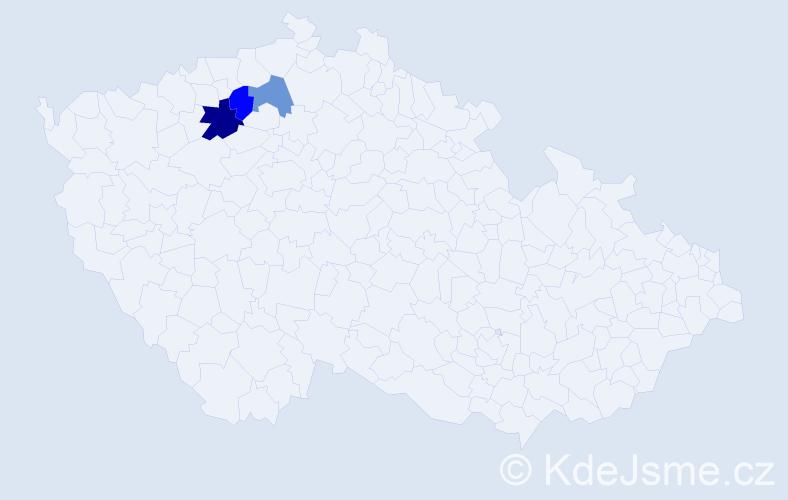 Příjmení: 'Espinosová', počet výskytů 4 v celé ČR