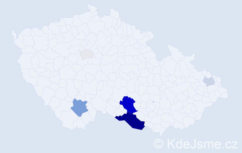 Příjmení: 'Eratová', počet výskytů 13 v celé ČR