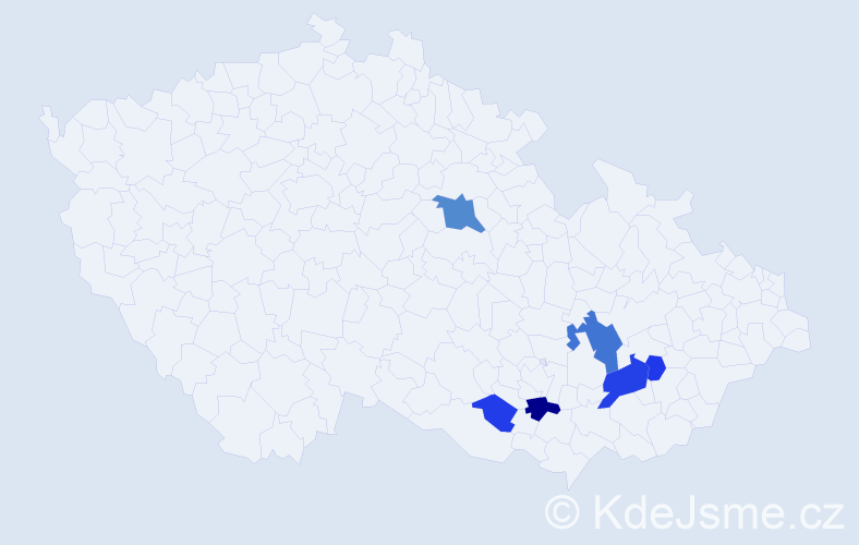 Příjmení: 'Böserle', počet výskytů 13 v celé ČR