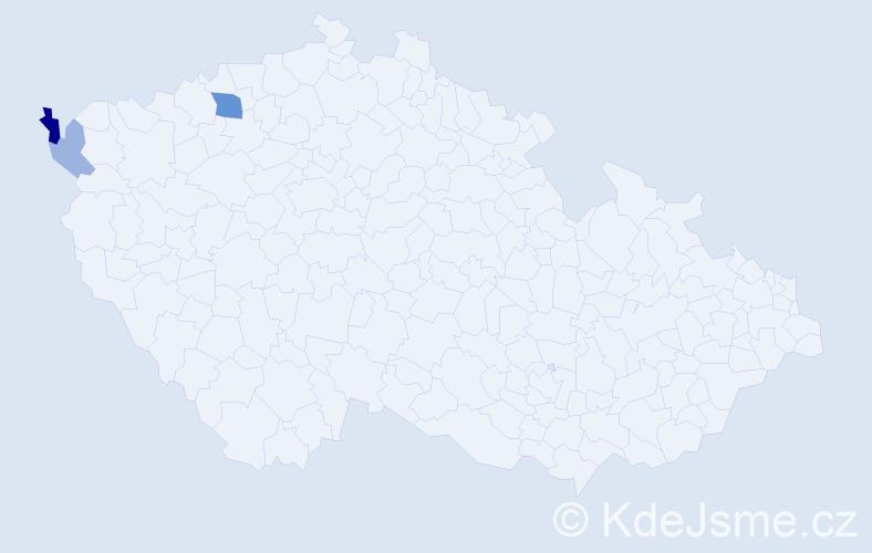 Příjmení: 'Langheinrichová', počet výskytů 6 v celé ČR