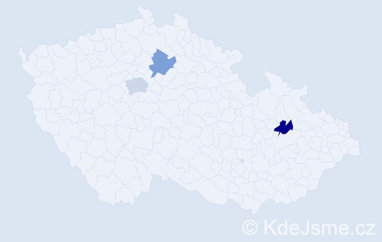 Příjmení: 'Kajtar', počet výskytů 4 v celé ČR