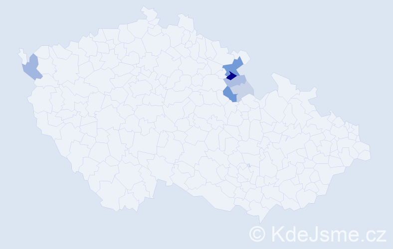 Příjmení: 'Gois', počet výskytů 20 v celé ČR