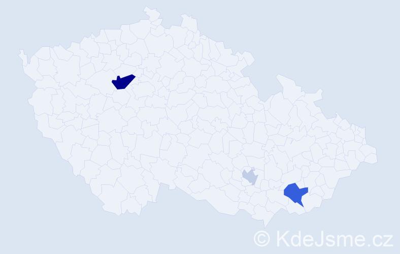 Příjmení: 'Elsayed', počet výskytů 7 v celé ČR