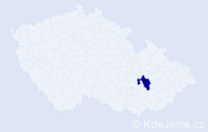 Příjmení: 'Hašák', počet výskytů 6 v celé ČR