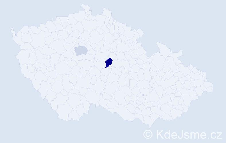 Příjmení: 'Cibur', počet výskytů 3 v celé ČR