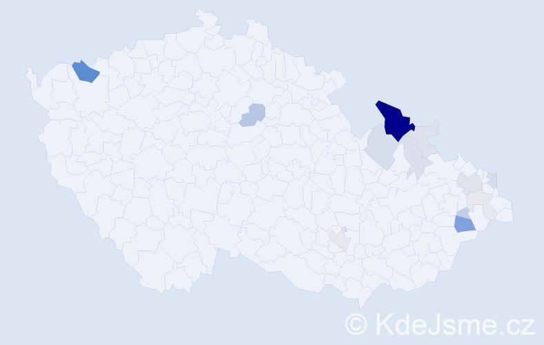 Příjmení: 'Jatiová', počet výskytů 51 v celé ČR