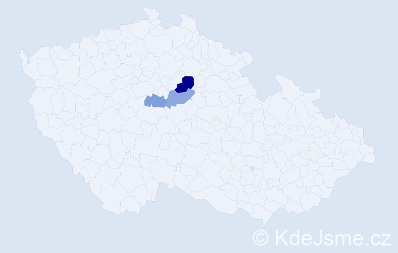 Příjmení: 'Heinbergerová', počet výskytů 4 v celé ČR