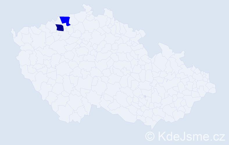 Příjmení: 'Dechová', počet výskytů 2 v celé ČR