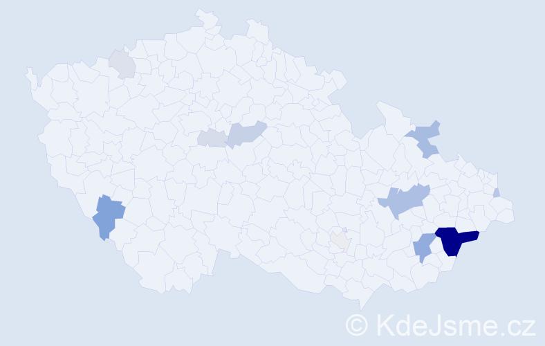 Příjmení: 'Katrušák', počet výskytů 41 v celé ČR