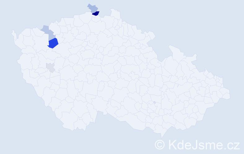 Příjmení: 'Čambalíková', počet výskytů 9 v celé ČR