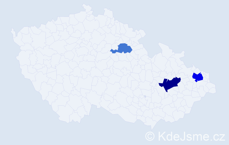 Příjmení: 'Čerchová', počet výskytů 6 v celé ČR