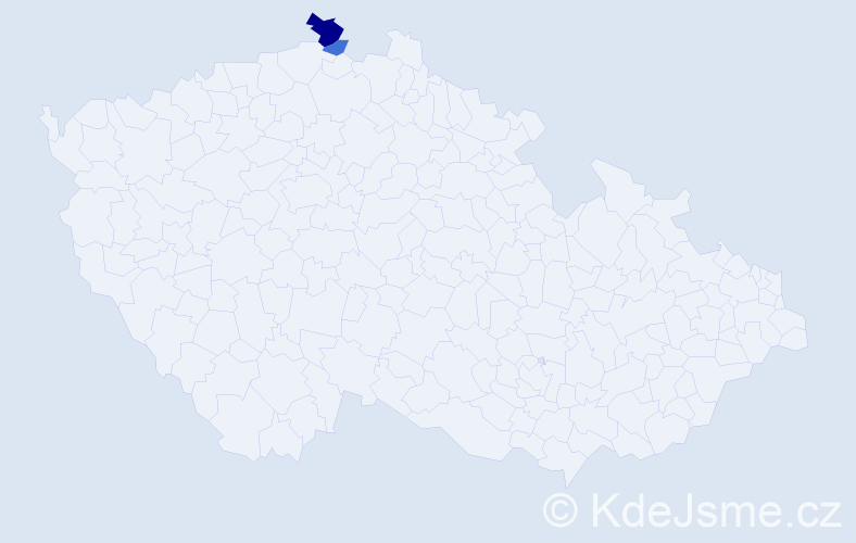 Příjmení: 'Laskeová', počet výskytů 4 v celé ČR