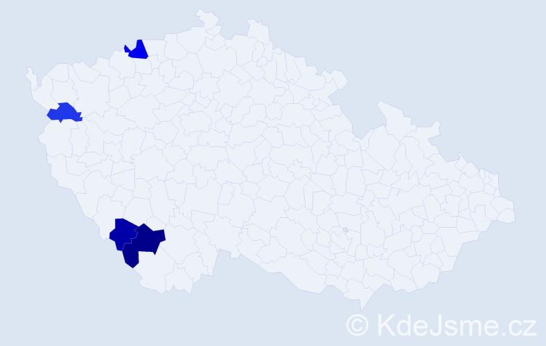Příjmení: 'Lachkovičová', počet výskytů 6 v celé ČR