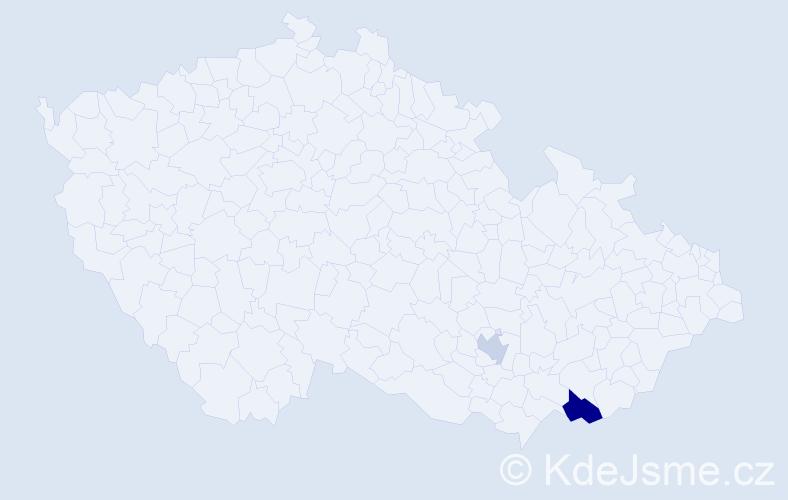 Příjmení: 'Gelbkopfová', počet výskytů 3 v celé ČR
