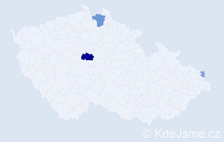 Příjmení: 'Cooney', počet výskytů 6 v celé ČR