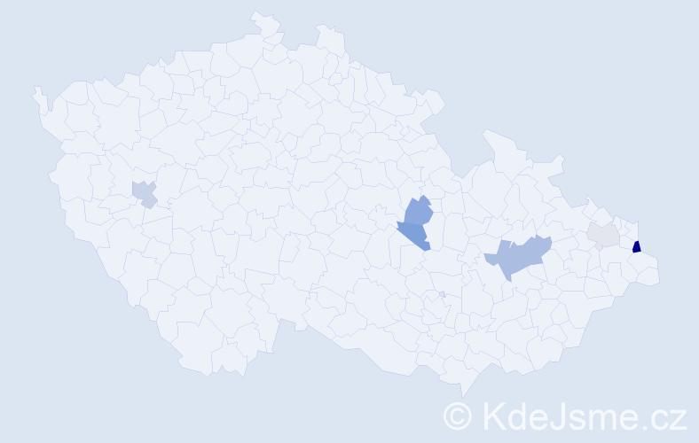 Příjmení: 'Gogol', počet výskytů 13 v celé ČR