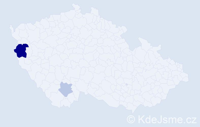 Příjmení: 'Abramčuk', počet výskytů 4 v celé ČR