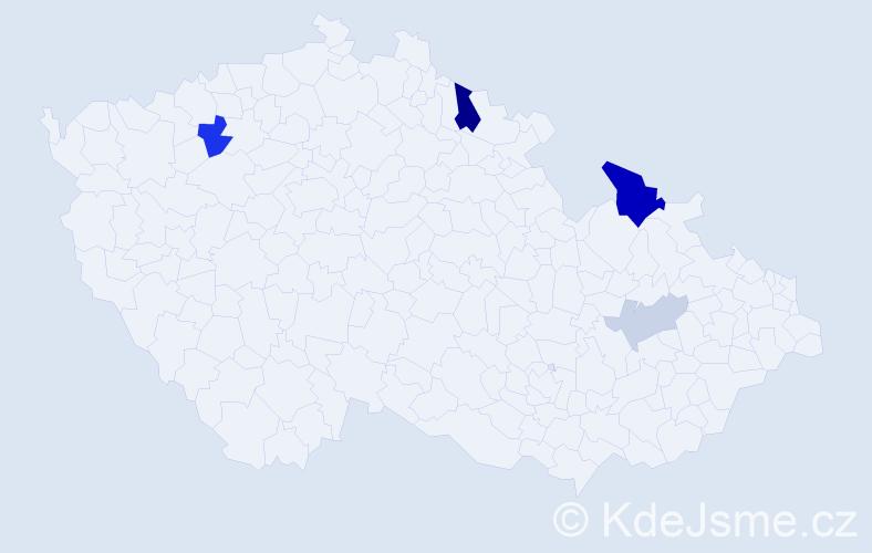 Příjmení: 'Kavčak', počet výskytů 10 v celé ČR