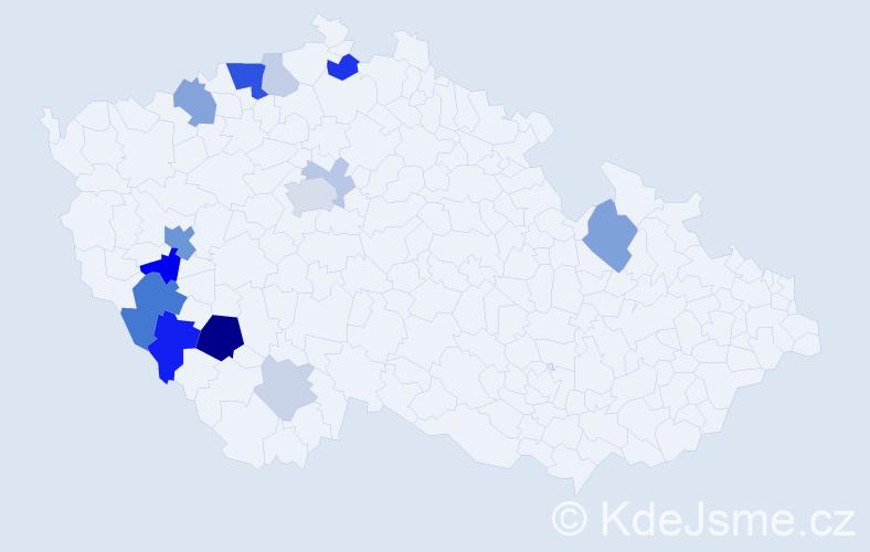 Příjmení: 'Kollros', počet výskytů 36 v celé ČR