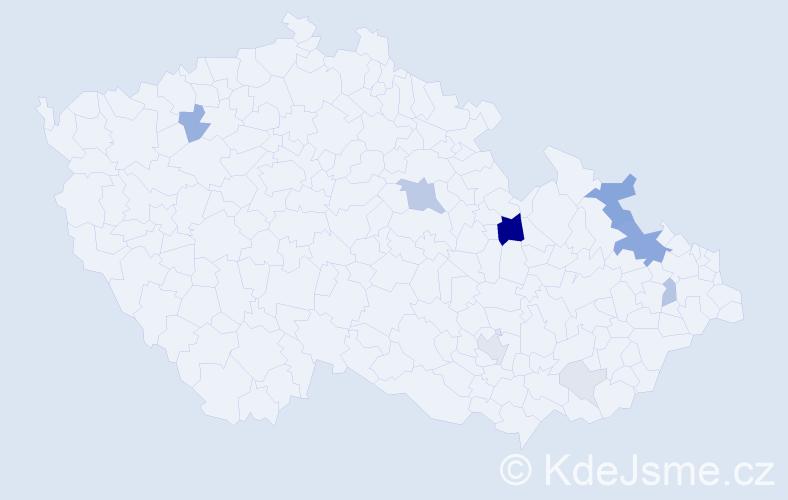 Příjmení: 'Launer', počet výskytů 32 v celé ČR