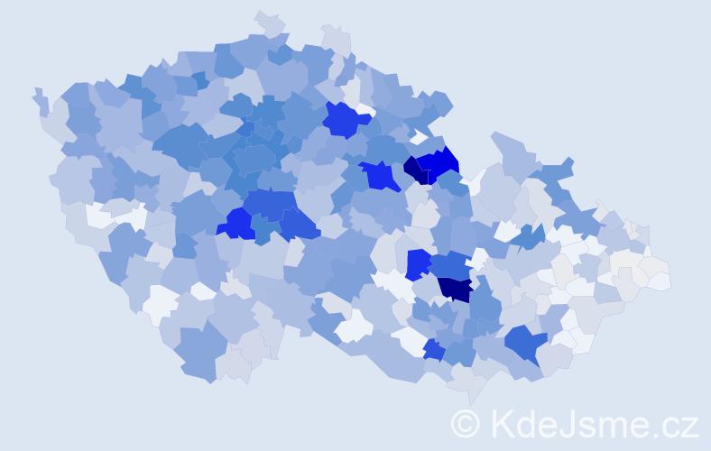 Příjmení: 'Hlaváček', počet výskytů 3476 v celé ČR