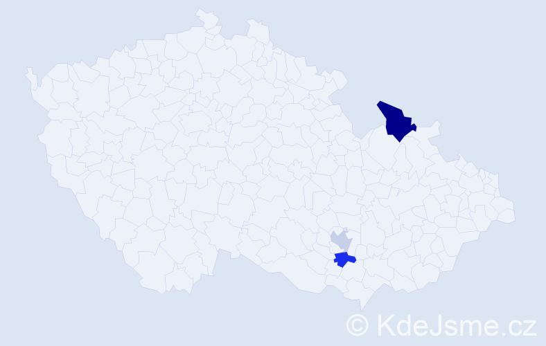 Příjmení: 'Galoch', počet výskytů 4 v celé ČR