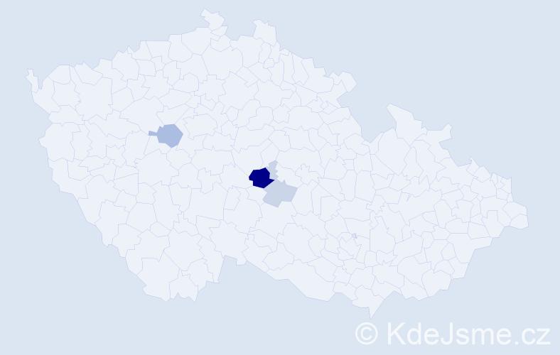 Příjmení: 'Egartová', počet výskytů 8 v celé ČR