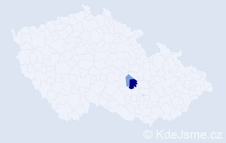 Příjmení: 'Koloditsová', počet výskytů 5 v celé ČR