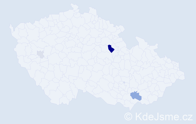 Příjmení: 'Halajčuk', počet výskytů 6 v celé ČR