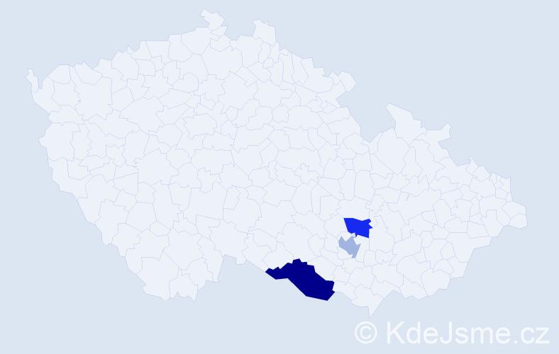 Příjmení: 'Anšlag', počet výskytů 4 v celé ČR