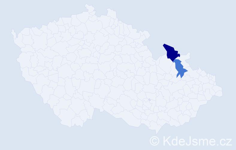 Příjmení: 'Gwyzdzová', počet výskytů 3 v celé ČR