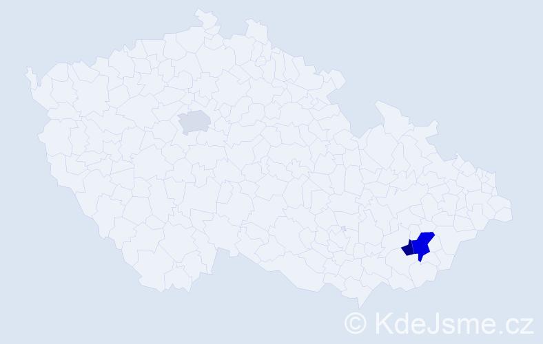 Příjmení: 'Fabrika', počet výskytů 8 v celé ČR