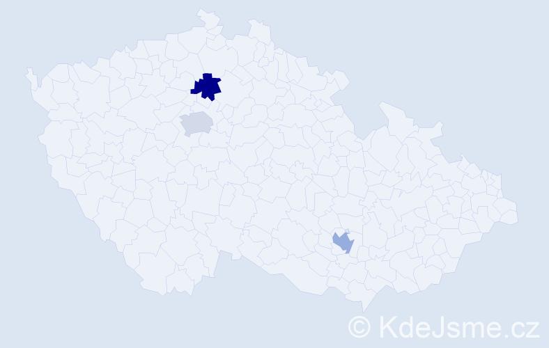 Příjmení: 'Engelmanová', počet výskytů 3 v celé ČR