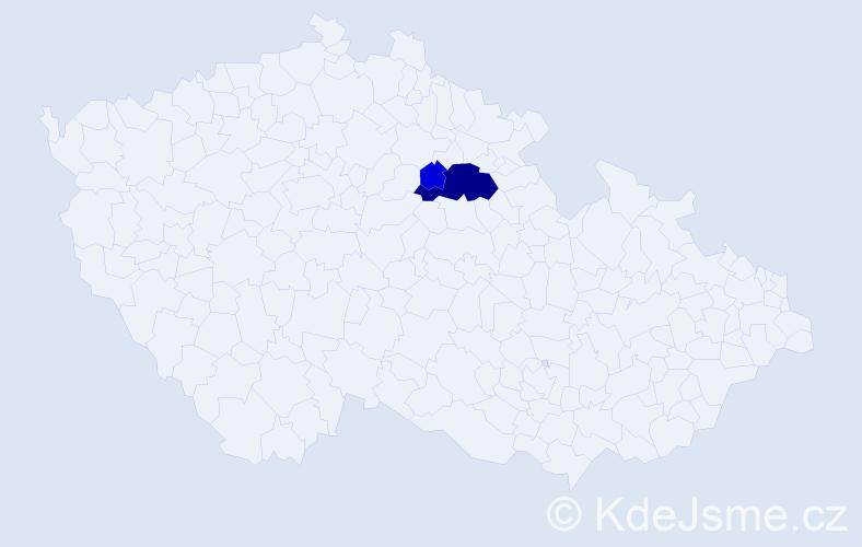 Příjmení: 'Čukat', počet výskytů 8 v celé ČR
