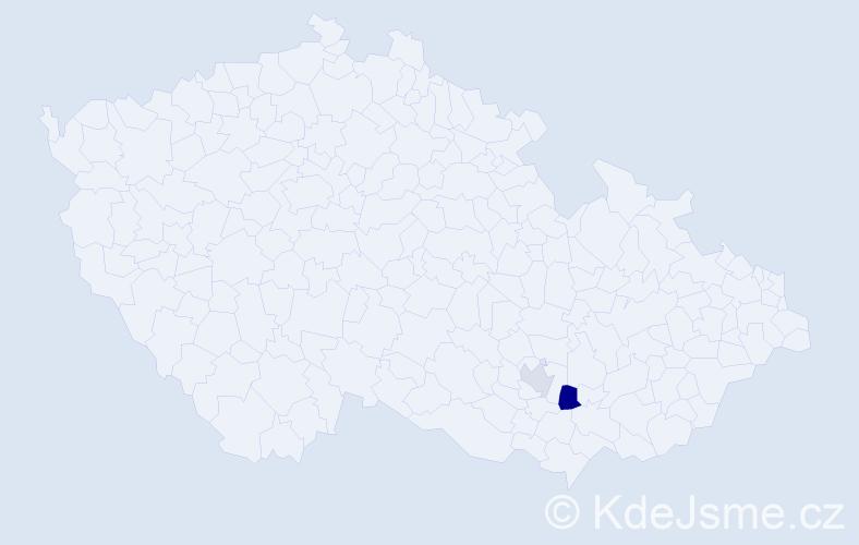 Příjmení: 'Grendár', počet výskytů 3 v celé ČR