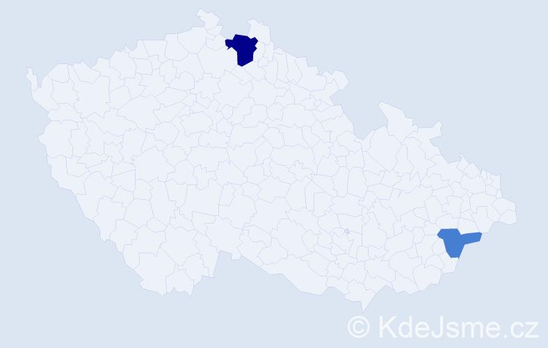 Příjmení: 'Kosiewicz', počet výskytů 8 v celé ČR