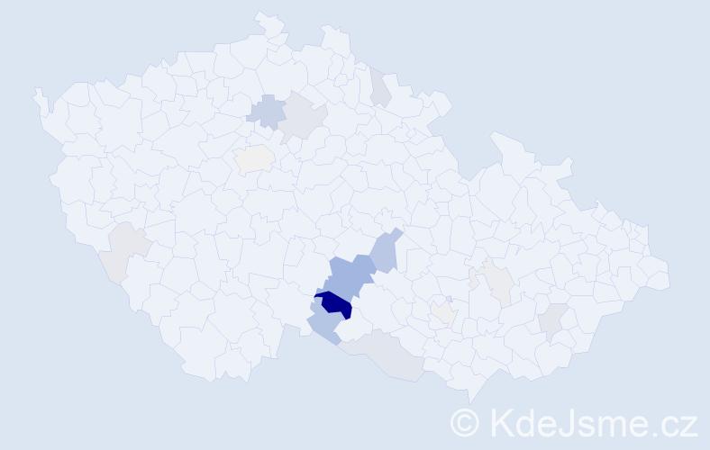 Příjmení: 'Dolský', počet výskytů 42 v celé ČR