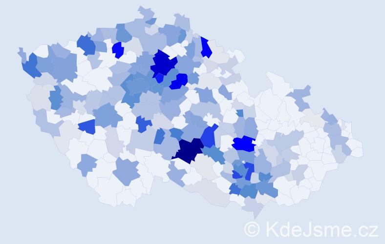 Příjmení: 'Boháčková', počet výskytů 927 v celé ČR