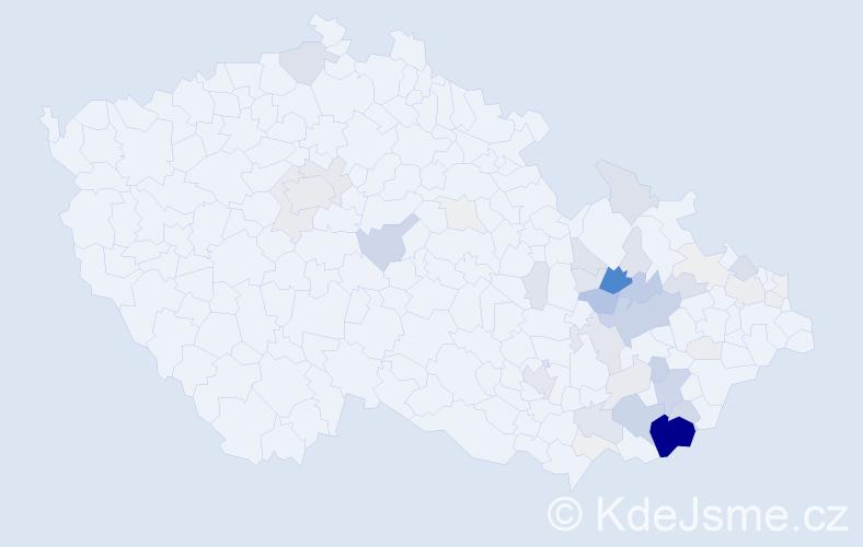 Příjmení: 'Hladiš', počet výskytů 236 v celé ČR