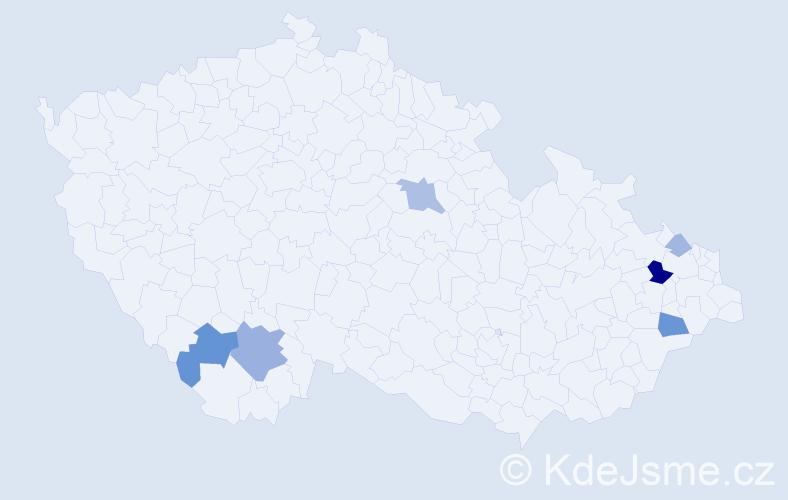 Příjmení: 'Lenhard', počet výskytů 14 v celé ČR