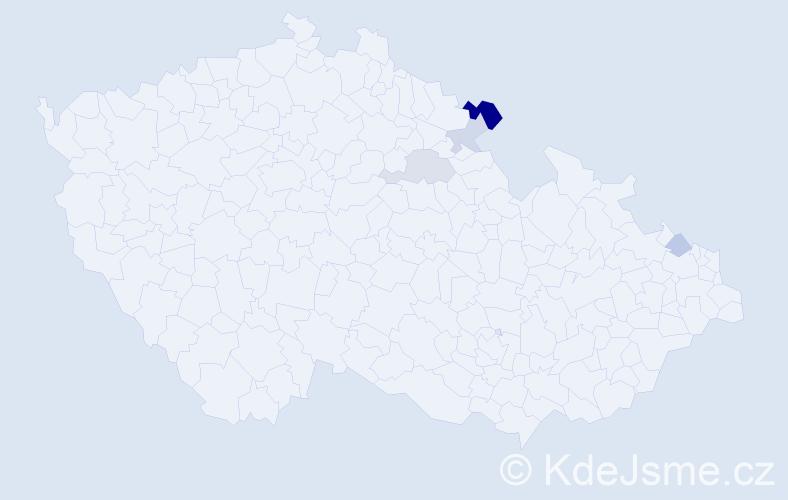 Příjmení: 'Hliníková', počet výskytů 7 v celé ČR